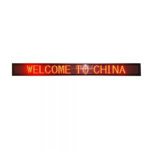 "46"" x 5"" Indoor 2 Lines LED Scrolling Sign (Tricolor or Single Color)"