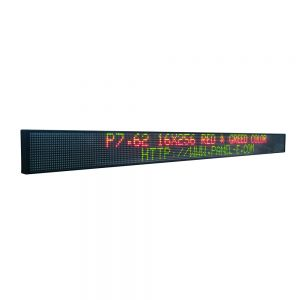 "78"" x 6"" Indoor 2 Lines LED Scrolling Sign (Tricolor or Single Color)"
