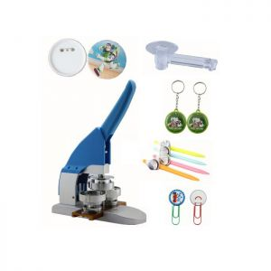 "1"" 25mm Button Maker Machine Badge Press+ Pin Buttons+ Pen Clip Buttons+ Pen Buttons+ Keychains + 1pc 25mm Circle Cutter"