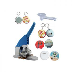 "1-3/4"" 44mm Button Maker Machine Badge Press+ Pin Buttons+Bottle Openers+ Magnetic Buttons+Mirror Keychain Buttons +1pc 44mm Circle Cutter"