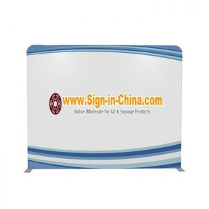 10ft High Portable Tension Fabric Exhibition Wall(Graphic Only/Single Sided)