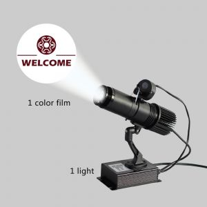 20W Black Desktop or Mountable LED Gobo Projector Advertising Logo Light (with Custom 1 Color Rotating Glass Gobos)