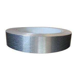 "80mm (3.1"") x 100m (328ft) Roll Aluminum Tape (Flat Coil without Folded Edge, 0.8mm (0.031"") Thickness, Brushed)"