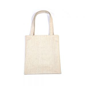 """12.2"""" x 13.4"""" Premium Blank Sublimation Linen Shopping Bags with Inner Pocket"""
