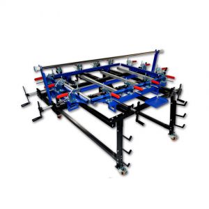 "High Precise 35"" x 47"" Clamp Type Manual Screen Stretching Machine Screen Printing Stretcher"