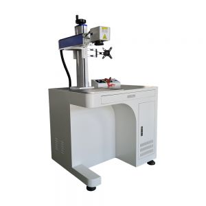 US Stock, 50W Desktop Fiber Laser Marking Engraving Machine, Rotary Axis Include