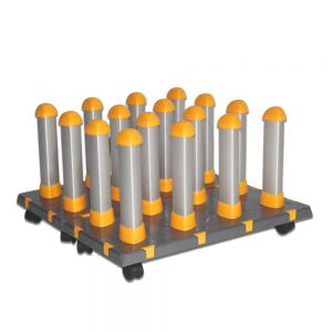 US Stock, Detachable Free Assembly Mobile Material Floor Rack for Vinyl, with 2 Modules