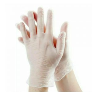US Stock Disposable M Vinyl Gloves Food Cleaning Clear Powder Free 4 mil Thick 100Pcs/pack