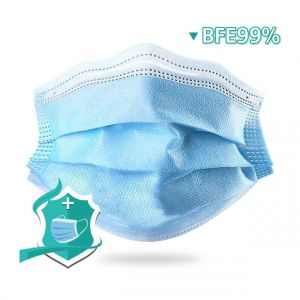 CHERY BFE99% 3Ply Disposable Protective Face Mask 1000pc CE Approval