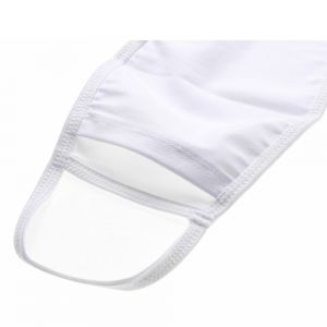 "7"" x 4.7"" 50pcs Sublimation Blank White Edge Washable Filter Insertable Face Mask (Filter not included)"