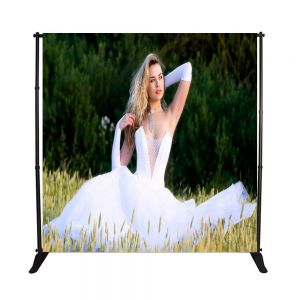 US Stock 3PC 8 x 10ft Step and Repeat Adjustable Backdrop Telescopic Banner Stand with Plastic Nut (Stand Only)