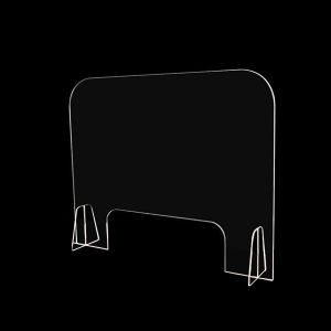 """36"""" W x 30"""" T Countertop Safety Barrier Acrylic Sneeze Guard"""