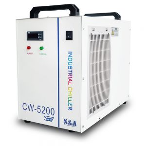 BEL Stock, S&A CW-5200TG Industrial Water Chiller (AC 1P 220V, 50Hz) for Single 150W CO2 Glass Laser Tube Cooling