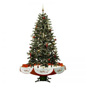 6.2ft Snow Artificial Christmas Tree With Decoration Set