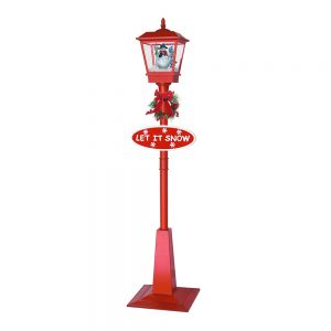 US Stock 71in Outdoor Christmas Decoration Christmas Snowing Lamp