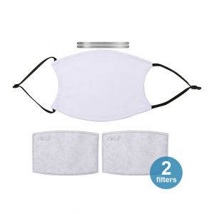 """5.1"""" x 7"""" Sublimation Face Mask with 2Filters (Black Strap)"""