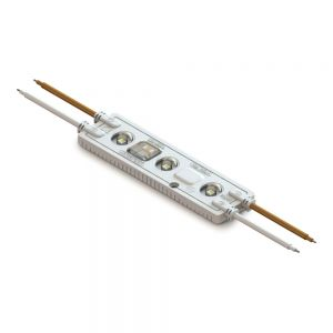 100Pcs/Pack No Power Supply Required SMD 2836 IP67 Waterproof LED Module, AC100-240V (3 LEDs, 2.5W, L110 x W28 x H8.5mm Natural White Light,110V)
