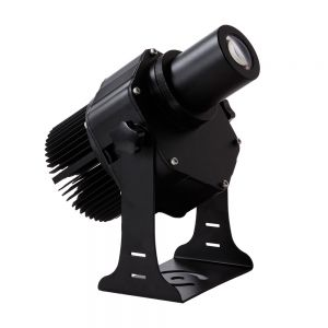 40W Outdoor Black Desktop or Mountable LED Gobo Projector Advertising Logo Light (with Custom  Rotating Glass Gobos)