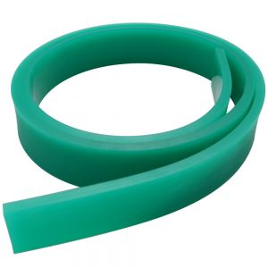 """Screen Printing Squeegee Single 50mm x 9mm x 6FT(72"""") / Roll 70 Duro (Green Color)"""