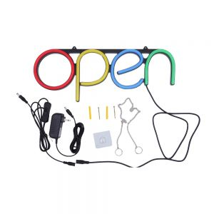 US Stock CALCA OPEN Business Sign Neon Lamp Integrative Ultra Bright LED Store Shop Advertising Lamp