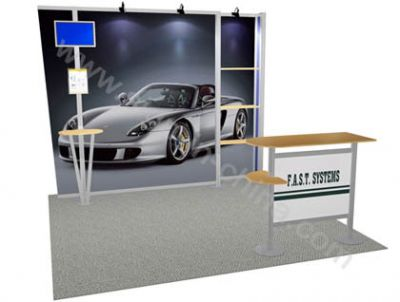 10 x 10(feet)Fast Exhibition Display Booth Stand