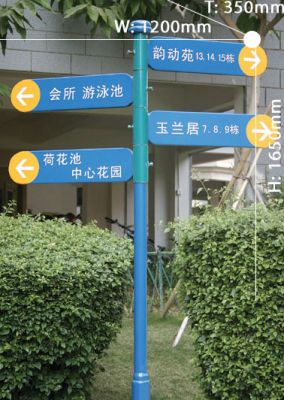 Directional signboard 014