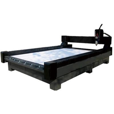 "79"" x 157"" (2000mm x 4000mm) Heavy-Duty Stone/Glass Carving CNC Router"