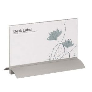 "New Al Desk Label 3.9"" x 7.5"" (100 x 190mm)"