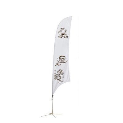 11.5 ft Feather Banner with Cross Base (Single Sided Printing)