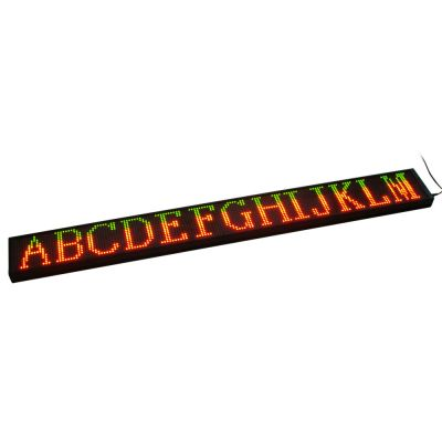 "38"" x 4"" Semi Outdoor 1 Line LED Scrolling Sign(Red color)"