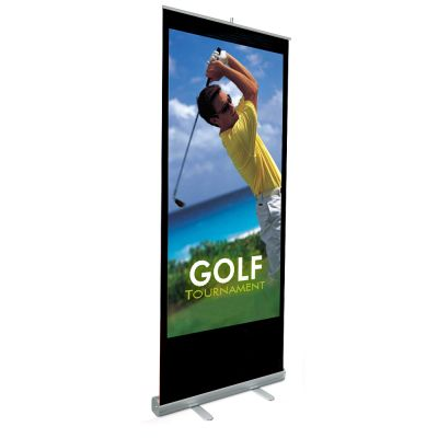 "33"" W x 79"" H Economy Roll Up Banner (Graphic Include)"