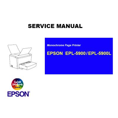 EPSON EPL-5900 EPL-5900L Printer English Service Manual