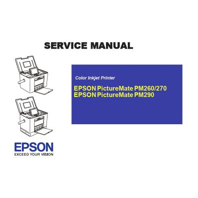 EPSON PictureMate PM260 270 290 English Service Manual (Direct Download)