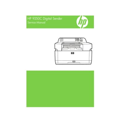 HP 9250c Digital Sender English Service Manual