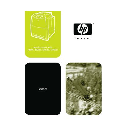 HP Color LaserJet 4600 Series Printer English Service Manual Maintenance Manual (Direct Download)