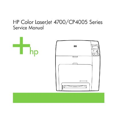 HP Color LaserJet 4700 CP4005 English Maintenance Manual