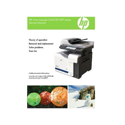 HP Color LaserJet CM3530 MFP English Maintenance Manual
