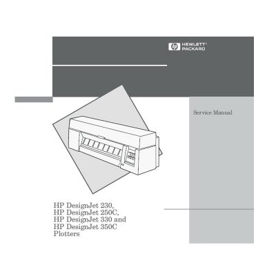 HP Designjet 230 250C 330 350C Plotter English Service Manual