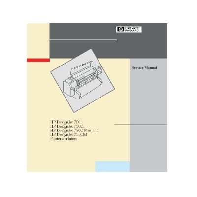 HP Designjet 700 750C 755CM Plotter English Service Manual