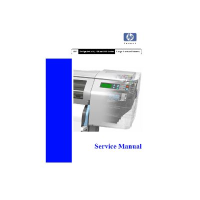 HP Designjets 500 510 800 Printer Plotter English Service Manual/Maintenance Manual (Direct Download)