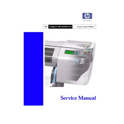 HP Designjets 500 800 Large Formart Printer Plotter English Service Manual (Direct Download)
