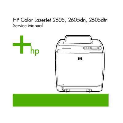 HP LaserJet 2605 2605dn 2605dtn Laser Printer English Service Manual