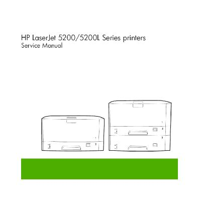 HP LaserJet 5200 5200L English Maintenance Manual