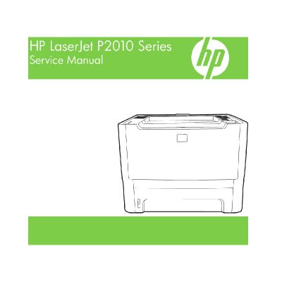 HP LaserJet P2011 P2012 P2013 P2014 English Maintenance Manual