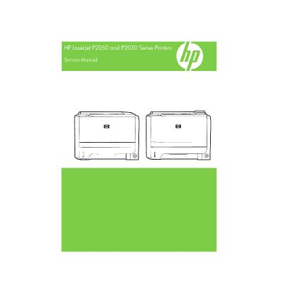 HP LaserJet P2035 P2055 English Service Manual/ P2030 P2050 Series