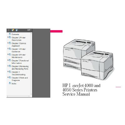 HP Laserjet 4000 4050 Series Printer English Service Manual Maintenance Manual