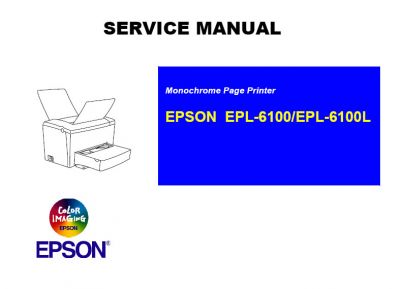 EPSON EPL-6100 EPL-6100L Printer English Service Manual, User´s Manual(Direct Download)