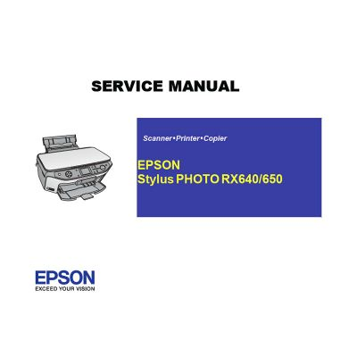 EPSON RX640 650 Printer English Service Manual (Direct Download)