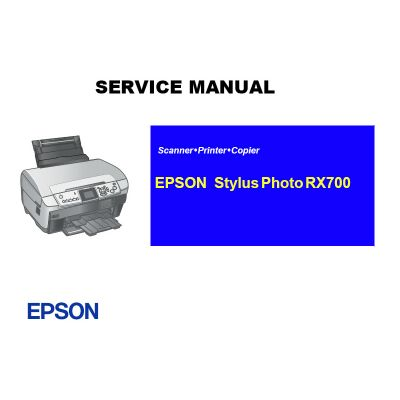EPSON Stylus Photo RX700 English Service Manual (Direct Download)