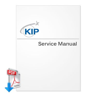 KIP 600A Wide Format Document Scanner Service Manual